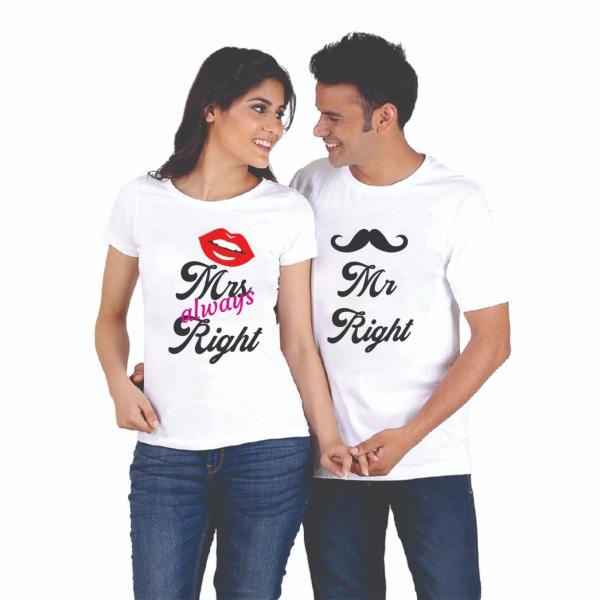 Tricouri Cuplu Personalizate - Mr and Mrs Right 0