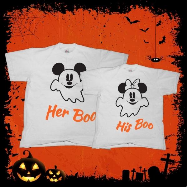 Tricouri Cuplu Personalizate - His and Her Boo 0