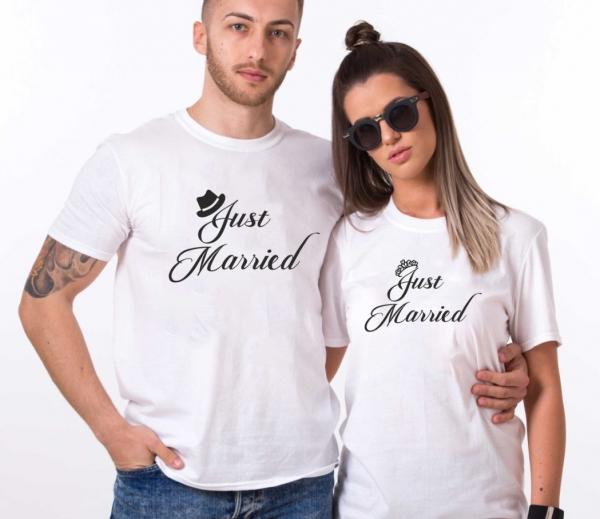 Tricouri Cuplu Personalizate - Just Married [1]
