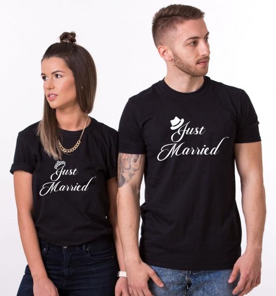 Tricouri Cuplu Personalizate - Just Married [0]