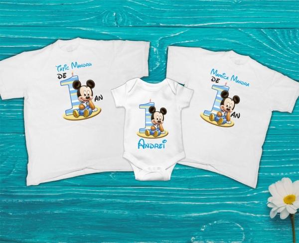 Set Tricouri Personalizate si Body - Parinti Mandri de Baietel 0