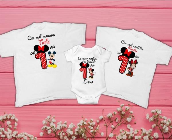 Set Tricouri Personalizate si Body Fetita - 1 An Minnie [0]