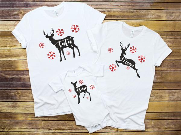 Set Tricouri Personalizate si Body - Familie De Reni 0