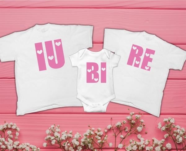 Set Tricouri Personalizate si Body - IU BI RE 0
