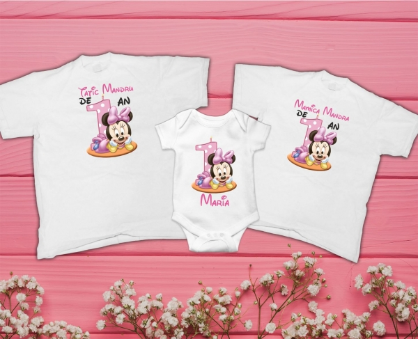 Set Tricouri Personalizate si Body - Parinti Mandri Fetita de 1 an 0