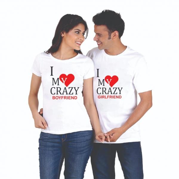 Tricouri Cuplu Personalizate - Crazy girlfriend / boyfriend [0]