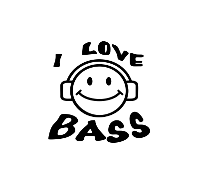 Sticker Auto - I Love Bass 0
