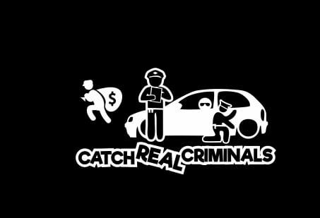 Sticker Auto - Catch real criminals Corsa [0]