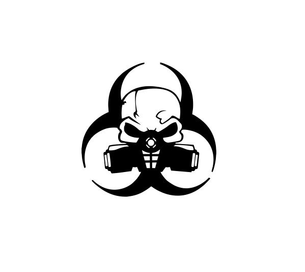 Sticker Auto - Toxic Skull [0]