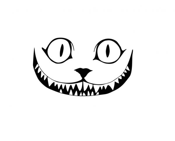 Sticker Auto - Cheshire Cat 0