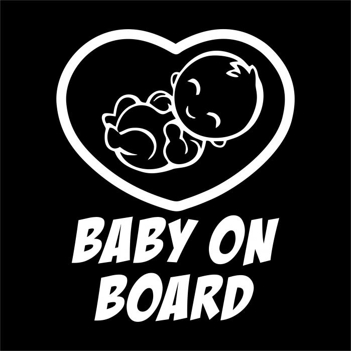 Sticker auto -  BABY ON BOARD [1]