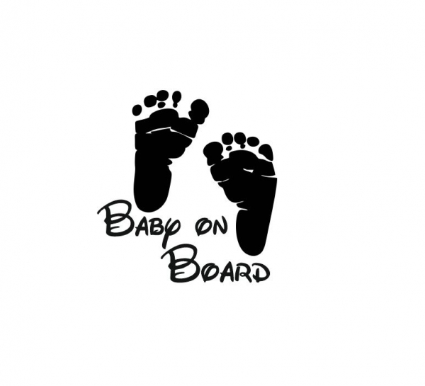 Sticker Auto - Baby On Board Picioruse 0