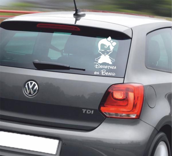 Sticker Auto - Baby On Board Fetita 1