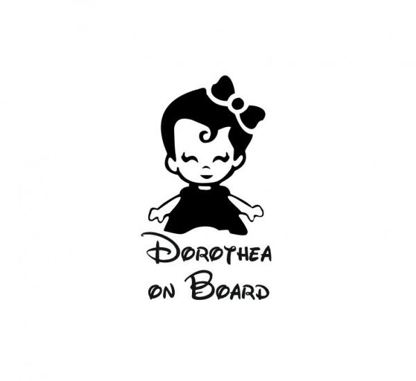 Sticker Auto - Baby On Board Fetita 0
