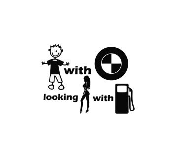 Sticker Auto - Boy With BMW 0