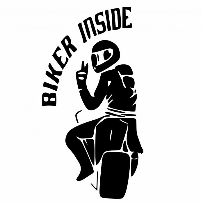 Sticker Auto - Biker Inside [0]