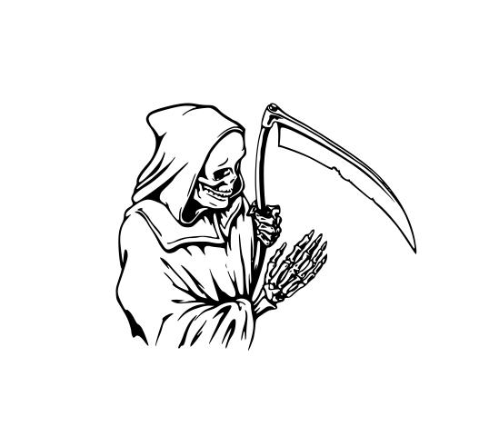 Sticker Auto - Moartea Cu Coasa 0