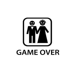 Sticker Auto - Game Over Wedding 0