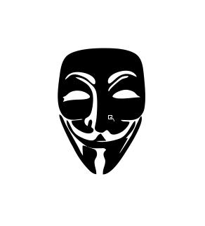 Sticker auto - Anonymus 0