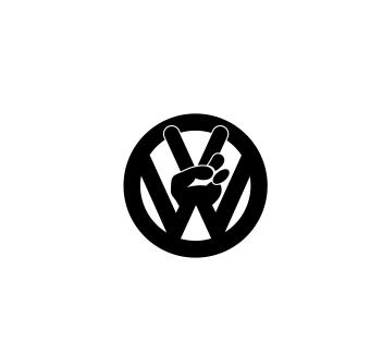 Sticker Auto - VW Peace 0