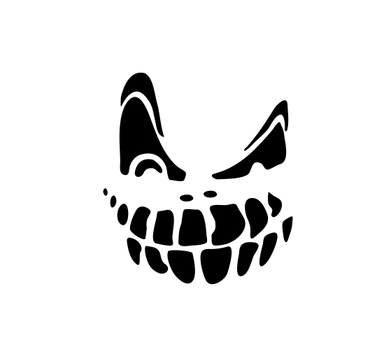 Sticker Auto - Scary Smile [0]