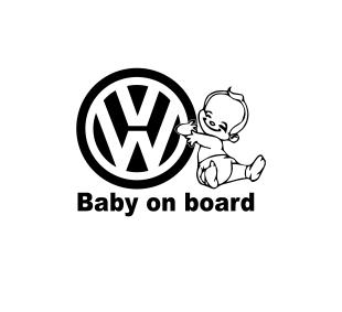 Sticker Auto VW Baby On Board [0]