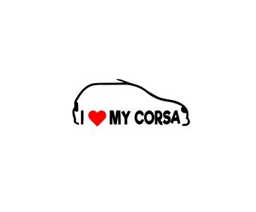 Sticker Auto - I love my Corsa 2 0