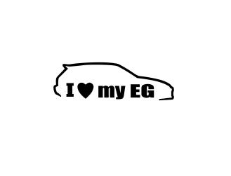 Sticker Auto I Love My EG 2 0
