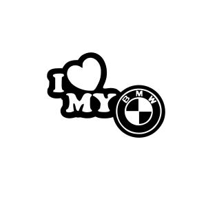 Sticker Auto I Love My BMW 0
