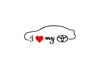 Sticker Auto I Love My Toyota 0