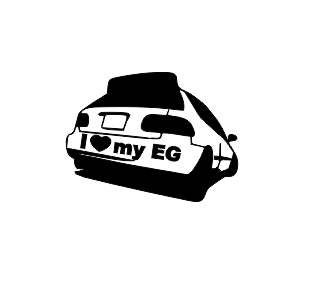 Sticker Auto - I Love My EG 0