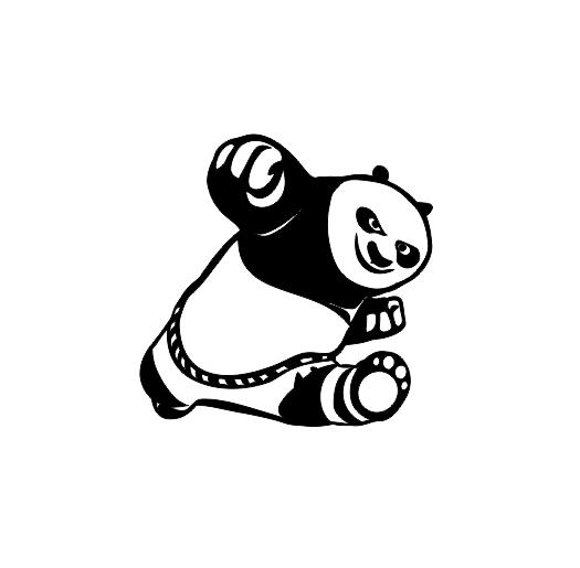 Sticker Auto - Panda 0