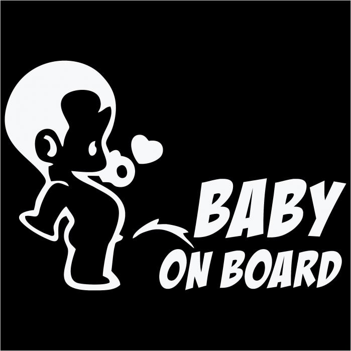 Sticker auto - Baby boy on board [1]