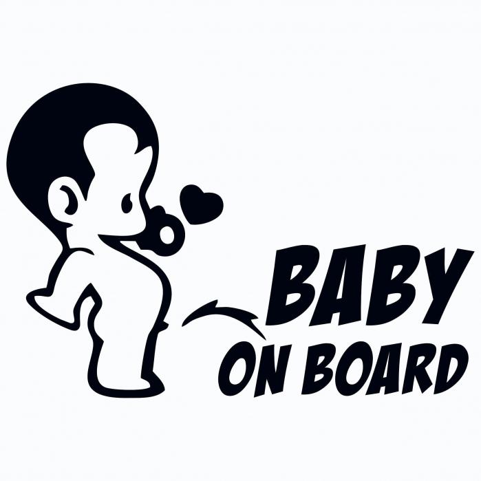 Sticker auto - Baby boy on board [0]