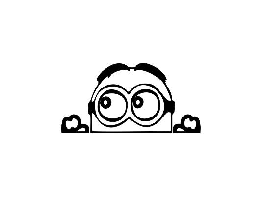 Sticker Auto - Peeking Minion 0