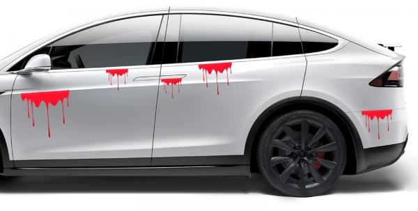Sticker Auto - Pata de sange 0