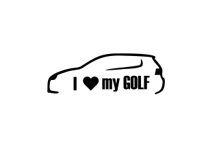 Sticker Auto - I Love My Golf 0