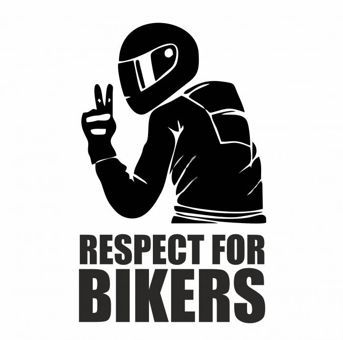 Sticker Auto - Respect for bikers 2 [0]