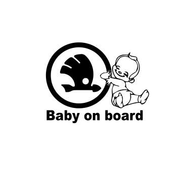 Sticker Auto Baby on Board Skoda [0]