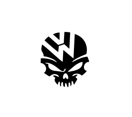 Sticker Auto - VW Skull 0