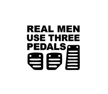 Sticker Auto - Real Men Use Three Pedals 0
