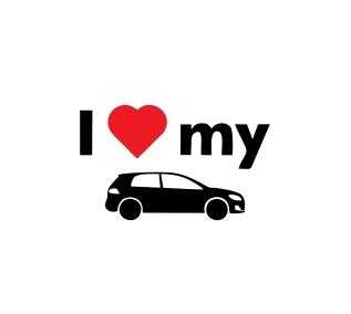 Sticker Auto - I Love My Car 0