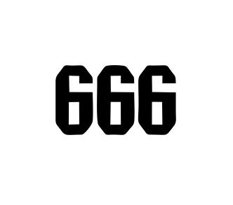 Sticker Auto - 666 0