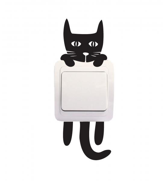 Sticker Decorativ Intrerupator - Pisica 3 0