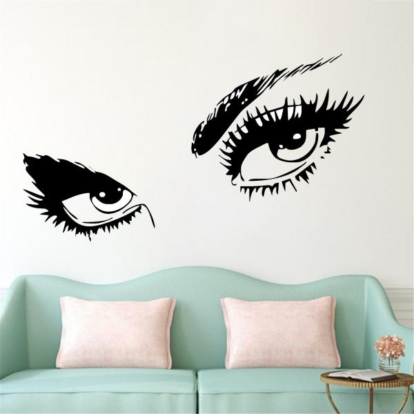 Sticker Decorativ Perete - Ochi Glamour 0