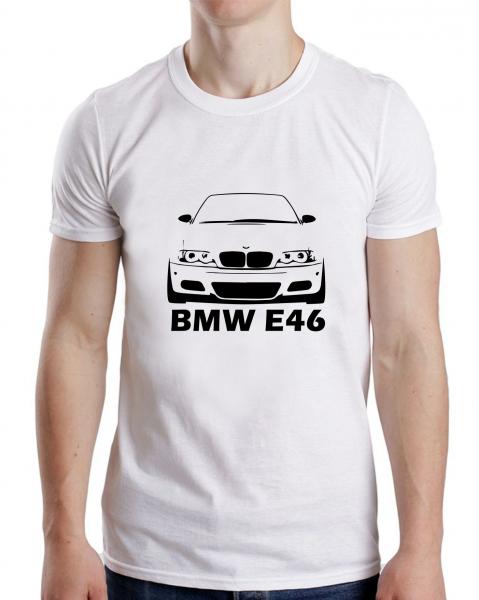 Tricou Auto Personalizat - BMW E46 cu nume sau numar 0