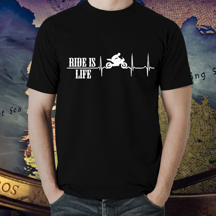 Tricou Moto - Ride is life [0]