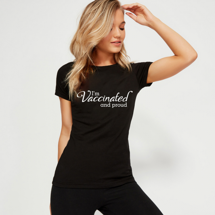 Tricou personalizat - I'm vaccinated and proud [1]