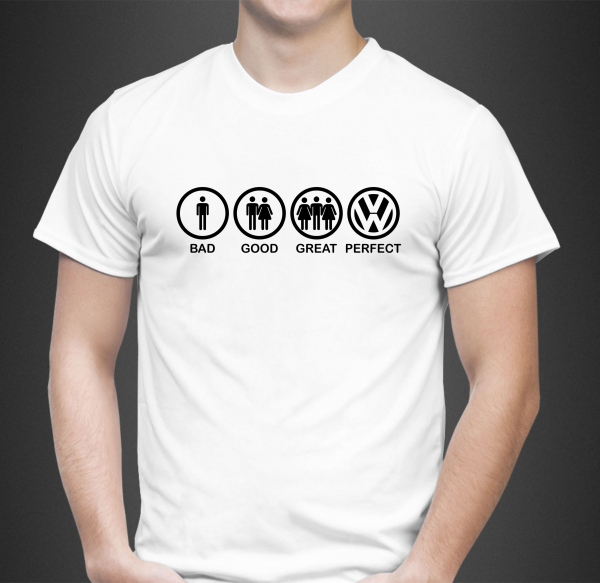Tricou Personalizat Auto - Bad Good Great VW 0