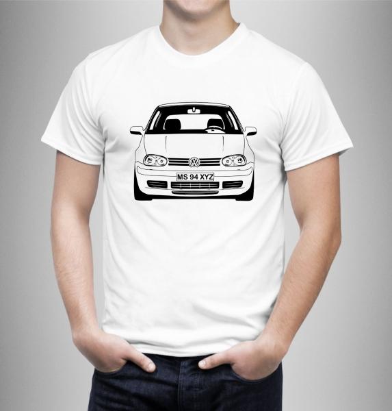 Tricou Personalizat Auto - VW Golf 4 model 2 0